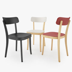 FREE Vitra Basel Chair and Bistro Round Table 3D Model