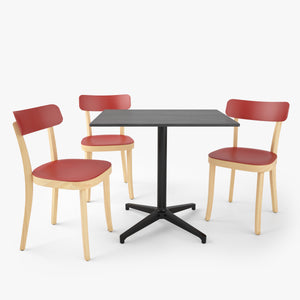 FREE Vitra Basel Chair and Bistro Table 3D Model