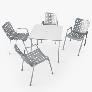 Vitra Landi Chair and Davy Table 3D Model