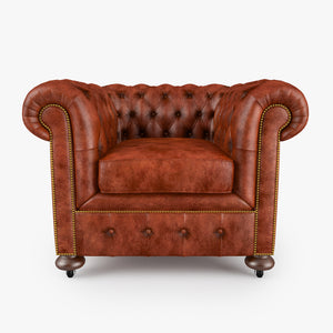 William Blake Armchair Chesterfield Leather 3D Model
