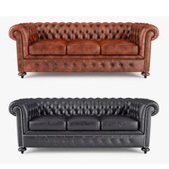 William Blake Sofa Chesterfield Leather 3D Model