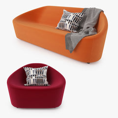 FREE Zanotta Club Sofa and Armchair 3D Model