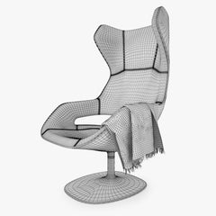 Zanotta Evolution Armchair 3D Model