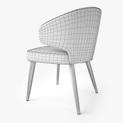 Minotti Aston Dining Chair and Armchair 3D Model