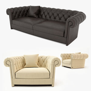 FREE Busnelli Jadore Sofa and Armchair 3D Model