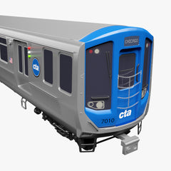 Chicago CTA Train 7000 Series 3D Model