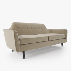 Crate and Barrel Gia Button Tufted Apartment Sofa and Chair