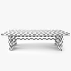 Dining Rustic Table with Chairs 3D Model