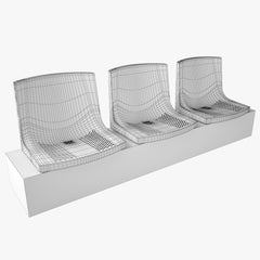 Figueras 200 Stadium Seating Chair 3D Model