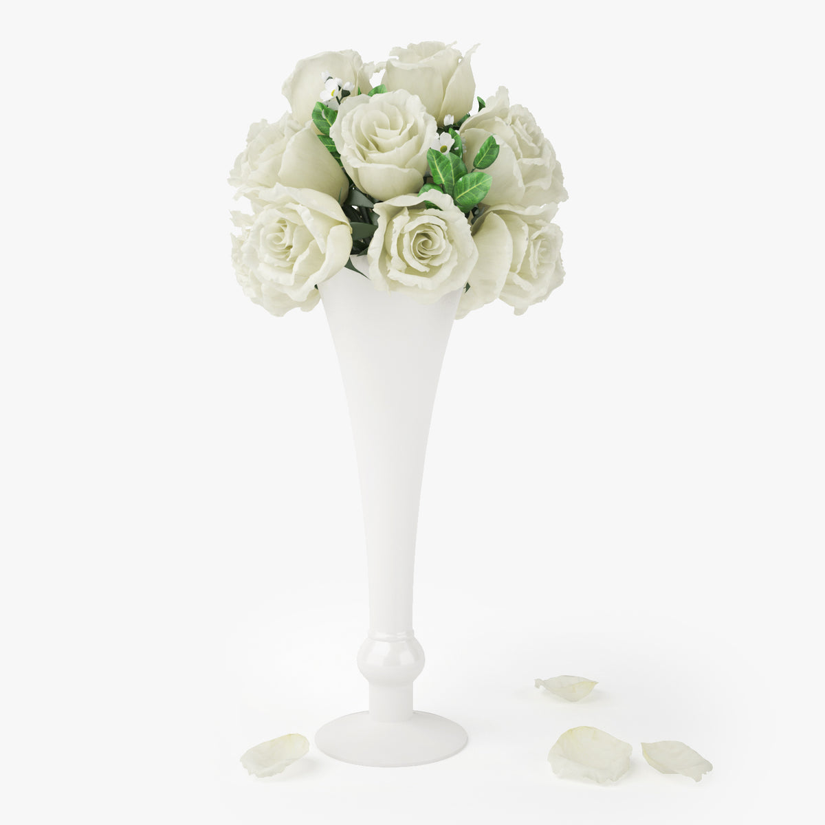 FREE Rose Bouquets Flowers in Vase 3D Model