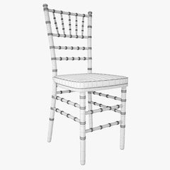 Gold Wood Stacking Chiavari Chair 3D Model