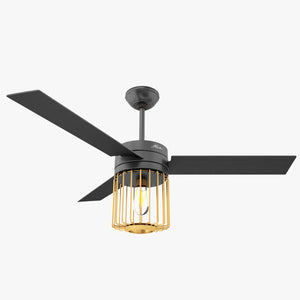 Hunter Ronan Ceiling Fan with Light 3D Model