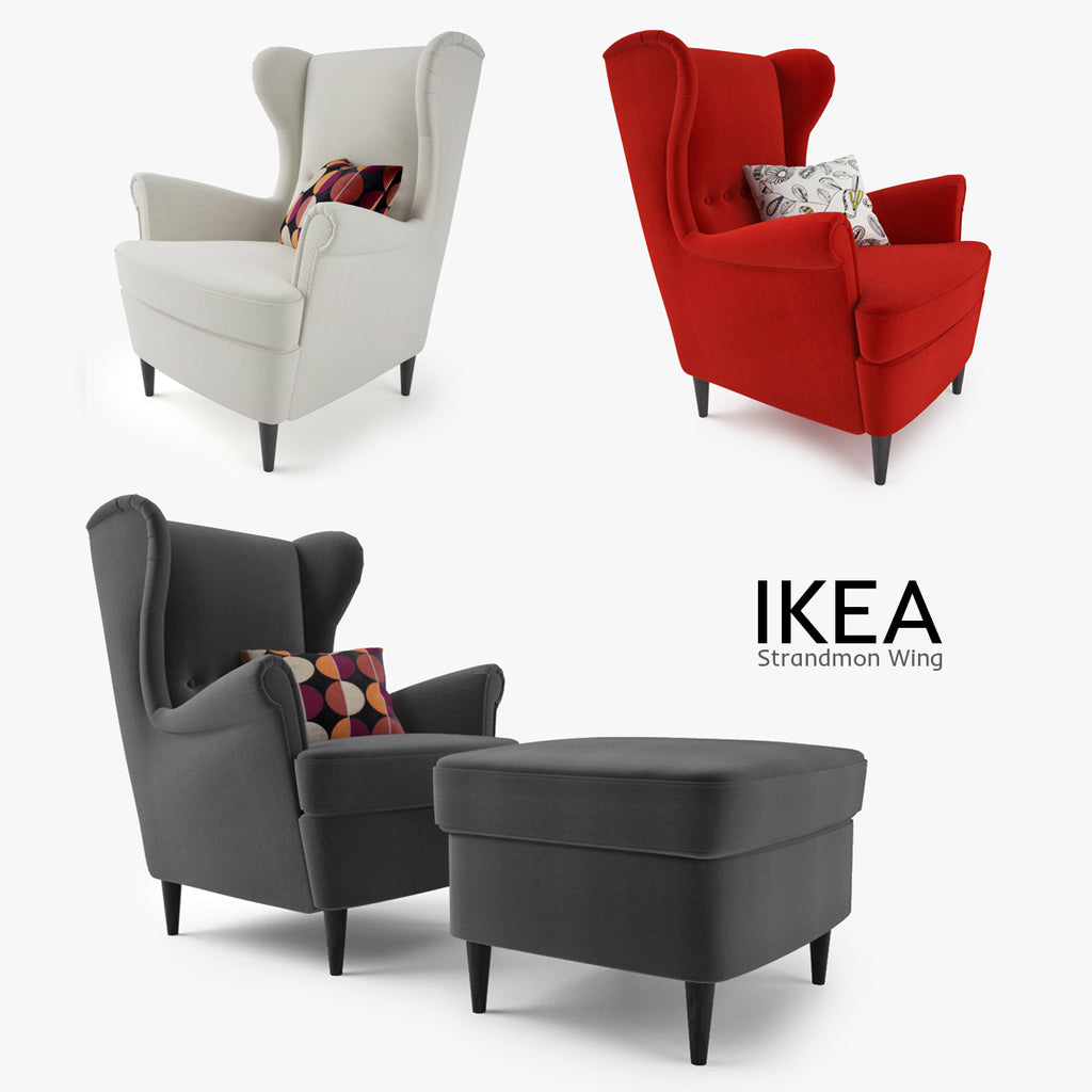 Ikea Strandmon Wing Chair 3d Model Facequad