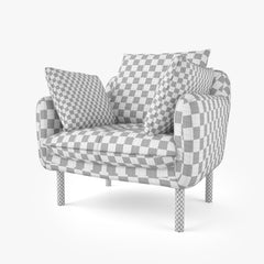 Jardan Andy Sofa and Armchair 3D Model