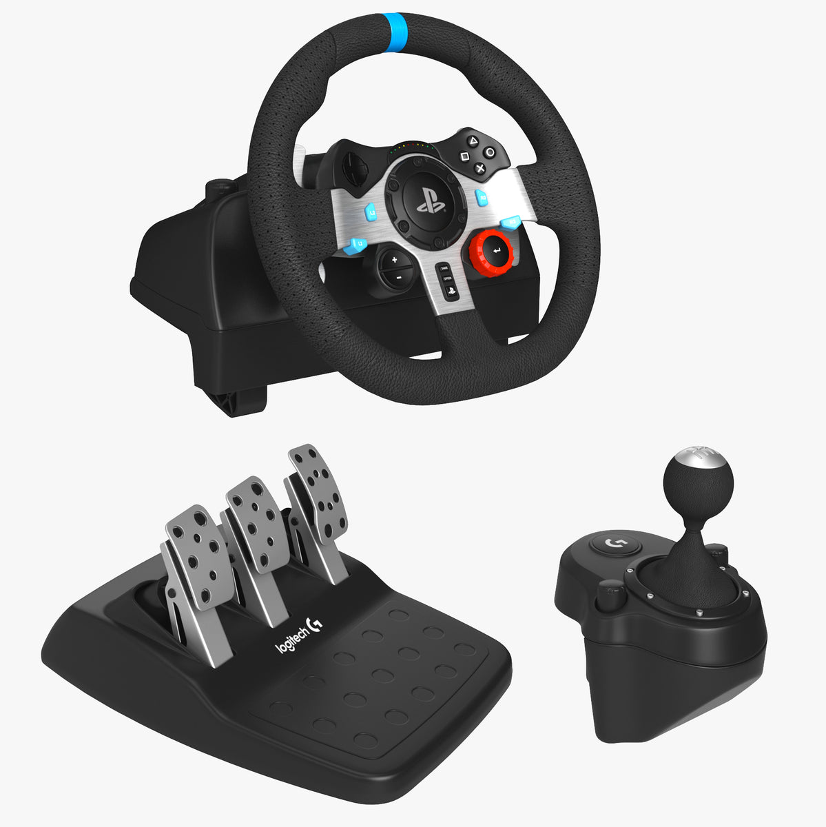 Logitech G29 Driving Force Racing Wheel Set 3D Model