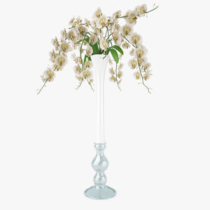 FREE Orchid Flowers in Vase 3D Model