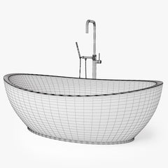 Hydro Systems Picasso Freestanding Bath Tub 3D Model
