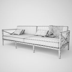 Restoration Hardware Mustique Sofa Collection 3D Model