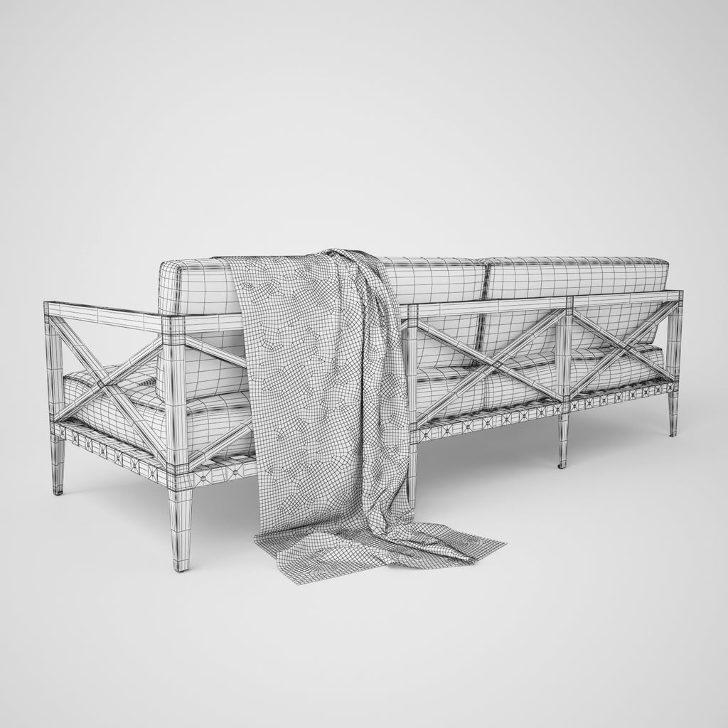Restoration Hardware Sofa Collection: Restoration Hardware Mustique Sofa Collection 3D Model