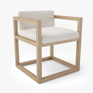 Restoration Hardware Aviara Teak Armchair 3D Model