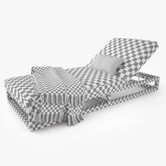 Restoration Hardware Aviara Teak Chaise 3D Model