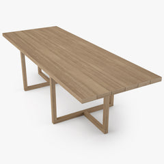 Restoration Hardware Aviara Teak Dining Table and Armchair 3D Model