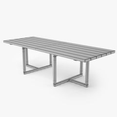 Restoration Hardware Aviara Teak Dining Table 3D Model