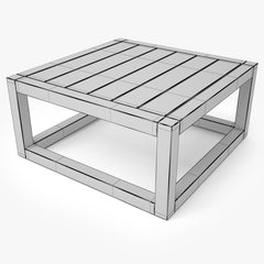 Restoration Hardware Aviara Teak Side Table 3D Model