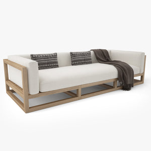 Restoration Hardware Aviara Teak Sofa 3D Model