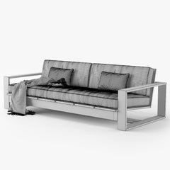 Restoration Hardware Porto Sofa 3D Model