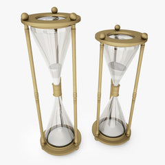 FREE Restoration Hardware Vintage Brass Hourglass 3D Model