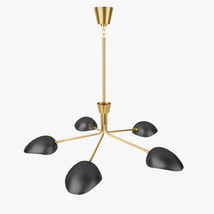 FREE Robert Abbey Lighting Rico Espinet Racer Chandelier 3D Model