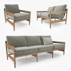 Roda ROAD Sofa Collection 3D Model