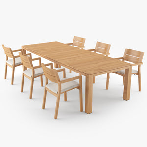 Tribu Kos Dining Table & Chair 3D Model