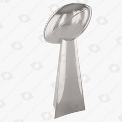 Vince Lombardi Trophy NFL Super Bowl champions 3D Model