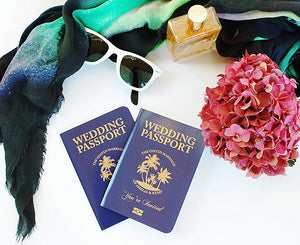 Tropical Palm Tree Passport Invitation