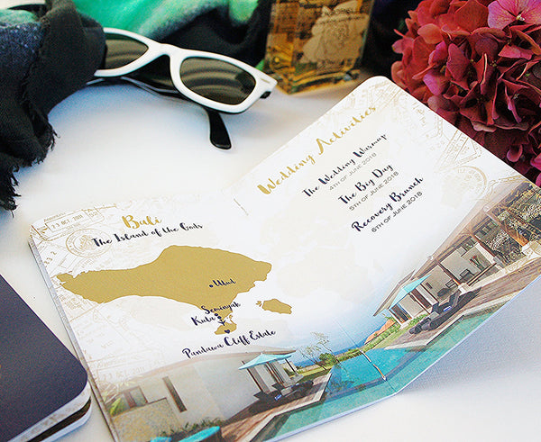 Custom maps included in your Passport Invitation free of charge