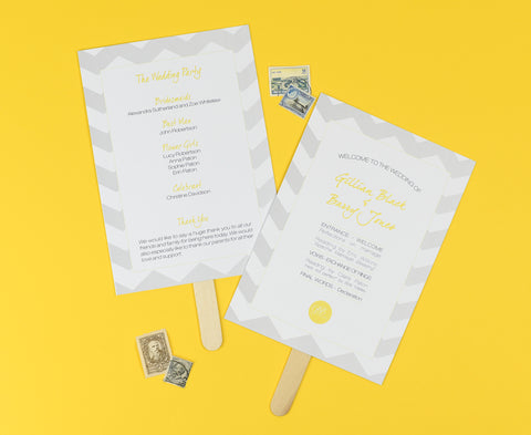 Order of Service Wedding Fan - Perfect for a Destination Wedding