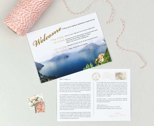Postcard RSVP Card is perfect for a destination wedding