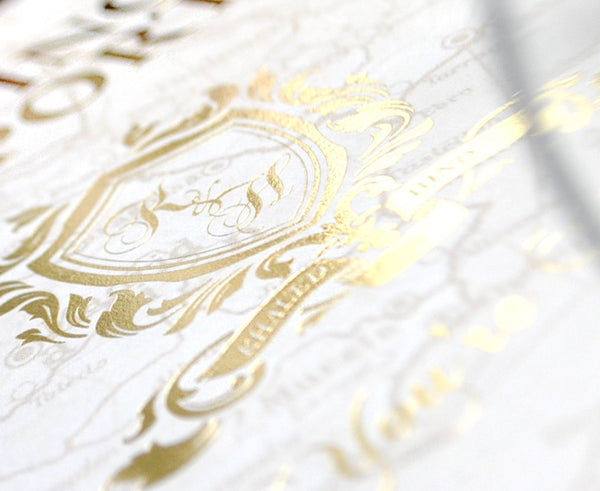 Looking to add the wow factor to your wedding invitations? We create custom designed stationery with foil blocking