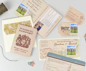 Vintage Retro Rustic Wedding Stationery Suite - Save the Date, Invite, RSVP Card and more!
