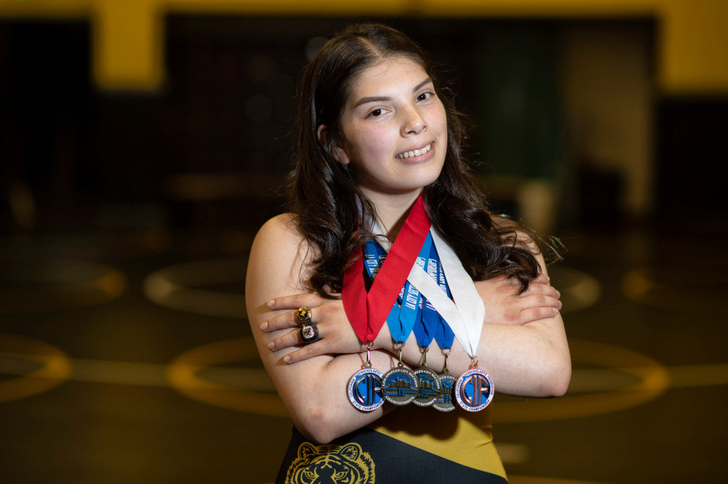 San Fernando's Gianna Anaya's Eyes Success on Wrestling Mat