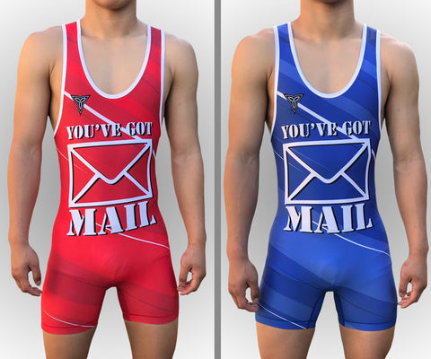 Full Send Wrestling Singlet Red & Blue option