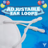 Kids KN95 - 5 Layer Disposable Mask with Adjustable Ear Loops (Pack of 10)