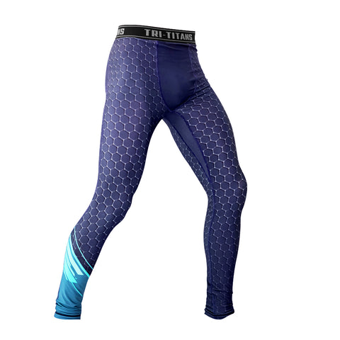 Blue Sonic Funk Fighter Compression Pants (Spats)