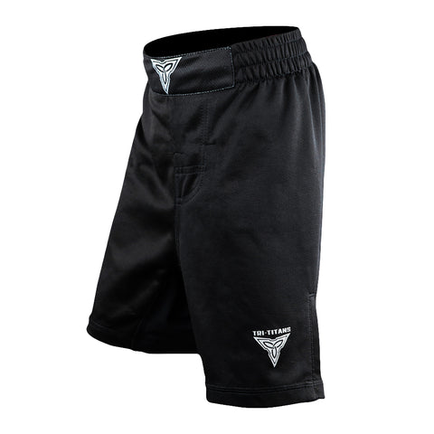 Black Tri-Titans Fight Shorts