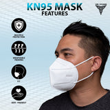 5 Layer Disposable KN95 Mask - White (10pcs Pack)