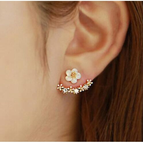 Blossoms Flower Metal Stud Earring - Jewelux & Co.