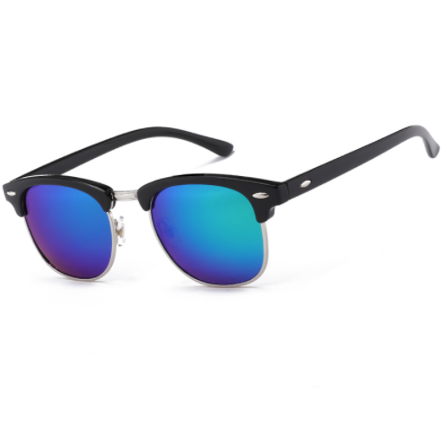 Classic Half Metal Sunglasses - Jewelux & Co.