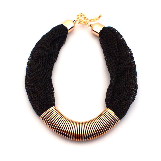 Chunky Rope Chain Collar Necklace - Jewelux & Co.